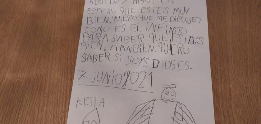 """Emocionante carta de un niño de 7 años a sus abuelos fallecidos por coronavirus: """"Sois dioses"""""""